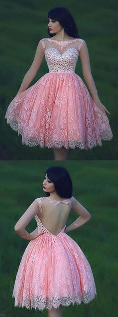 UHC0056, Lace Homecoming Dress,Pink Homecoming Dress,Pink Homecoming Dress,Lace Homecoming Dress,Short Prom Dress,Country Homecoming Gowns