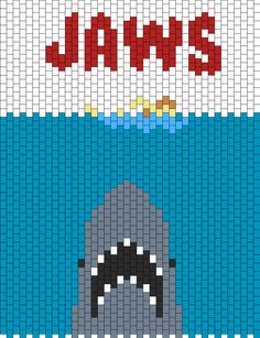 Jaws Poster Or Panel Bead Pattern