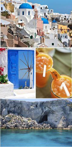 Santorini, Grecja <3 Słoneczne miejsce, gdzie błękit nieba i morze zlewają się po horyzont!