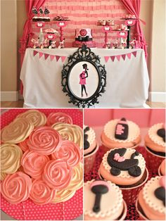 Pink and Black Glam Baby Shower by Bird's Party #genderreveal #partyideas #freeprintables #printable #babyshower #sign #nursery