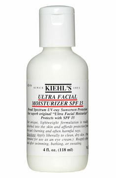 Kiehl's SPF 15 Ultra Facial Moisturizer- An SPF that doesn't make me break out!