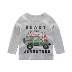 Cotton and polyester blend materials make the fabric comfortable and smooth for kids' sensitive skin. Cute Outfits For Kids, Cute Kids, Pineapple Co, Kids Clothes Sale, New Years Sales, Gifts For Boys, Sensitive Skin, Mantel, Graphic Sweatshirt