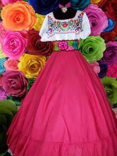 d32648de6 Mexican SKIRT Fiusha Handmade Beautiful Frida Kahlo style