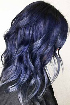 24 Tasteful Blue Black Hair Color Ideas To Try In Any Season 78c839b6b217