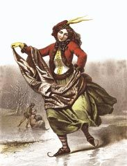 The Skater, Costume for Outdoor Winter Sports, European print, mid 19th century