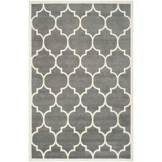 Safavieh Handmade Moroccan Chatham Dark Grey Wool Rug (8'9 x 12') | Overstock.com Shopping - Great Deals on Safavieh 7x9 - 10x14 Rugs