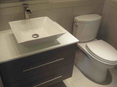 New Post square drop in bathroom sink