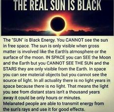The SUN 🌞 is black energy. Black Goddess, Black History Facts, Science, African History, Spiritual Awakening, Things To Know, Good To Know, Spirituality, Knowledge