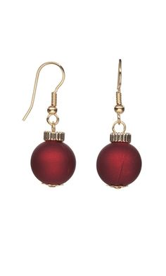 Earrings with Rubberized Acrylic Beads and Gold-Filled Beads - Fire Mountain Gems and Beads