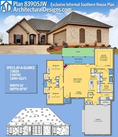Architectural Designs House Plan 83905JW gives you 3 beds, 2.5 baths and over 1,800 sq. ft. of heated living space. Ready when you are. Where do YOU want to build? #83905jw #adhouseplans #architecturaldesigns #houseplan #architecture #newhome  #newconstruction #newhouse #homedesign #dreamhome #dreamhouse #homeplan  #architecture #architect #acadianhouse #acadianhome #southernhouse #southernhome #southernliving #southernlife