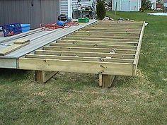 Deck framing before installing handrail posts.