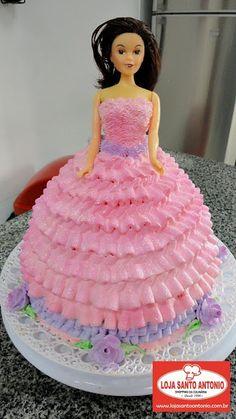 Loja Santo Antonio: Bolo em forma de Boneca Barbie ou Princesa!