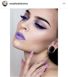 is so dreamy 💗😍💜 {using: Purple Lipstick Makeup, Purple Makeup Looks, Pink Lips, Power Of Makeup, Beauty Makeup, Eye Makeup, Hair Makeup, Makeup Stuff, Light Contouring
