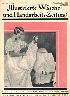 "Illustrierte Wäsche- und Handarbeits-Zeitung 1935 heft 1. Model 14363: 12-14y B32"" (82 cm). Model 14364: 12-14y B32"" (82 cm). PDF sewing patterns for these models available upon request, please contact me for more information."