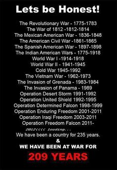 Although we didn't technically join WWI until I had noticed that every generation had seen at least one war. something to think about. The Spanish American War, Mexican American War, American Civil War, American History, American Spirit, Us History, History Facts, Funny History, History Quotes