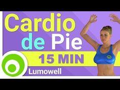Rutina de Cardio de 15 Minutos. Ejercicios de Pie para Adelgazar - YouTube #pilatesparaadelgazar