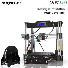 Auto level 3D printer Reprap prusa i3 DIY kits automatic leveling melzi marlin firmware with PLA filament 8GB SD card for free