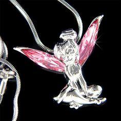 Pink Swarovski Crystal Fairy TINKERBELL Tinker Bell by Kashuen, $38.00