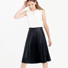 J.Crew - Petite two-tone pleated combo dress