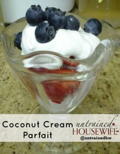 Coconut Whipped Cream for Parfait Recipes