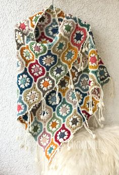 Your place to buy and sell all things handmade Crochet Granny, Crochet Shawl, Crochet Girls, Knitting Videos, Cowl Scarf, Crochet Designs, Wool Yarn, Crochet Clothes, Crochet Flowers