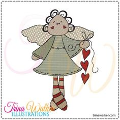 Love Angel 1 Machine Embroidery Pattern http://trinawalker.com/shop/index.php?main_page=product_info&cPath=78_79&products_id=91