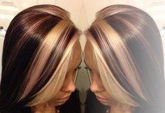 dark hair color chunks white - Google Search