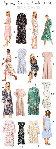 BECKI OWENS--16 Spring Dresses Under $150!!