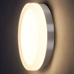"""Name: Slice LED Wall Sconce/Flushmount Brand: WAC Lighting Price: $161.50 - $229.50 Dimensions:         Small Option Fixture: Height 2.5"""", Diameter 8.88""""     Large Option Fixture: Height 2.5"""", Diameter 11""""     Shade: Height 1.25"""" Finish: Bronze, Brushed Nickel, Chrome Entry Stairs, Contemporary Wall Sconces, Turn The Lights Off, Led Wall Sconce, Splish Splash, Kitchen Lighting, Wall Lights, Chrome, Bronze"""