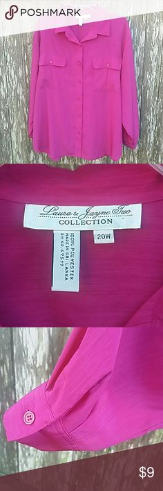Laura & Jayne Two Blouse Laura & Jayne Two Blouse  Fuchsia Laura & Jayne Two Tops Button Down Shirts