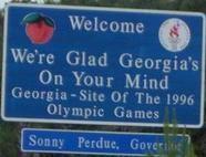 Georgia  http://www.teresco.org/pics/signs/welcome-to.html#georgia