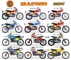 Bultaco / Todo Terreno / Frontera Bultaco Motorcycles, Enduro Motorcycle, Motorcycle Posters, Retro Motorcycle, Motocross Bikes, Vintage Motocross, Moto Bike, Vintage Bikes, Vintage Motorcycles