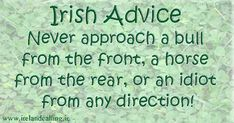 Irish humour... advice