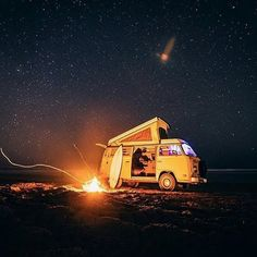 Now this is where you want to be this weekend... Regram @campingofficial // #camping #caravan #beach #sand #bonfire #galaxy #stars #surf #surfing #surfboard #adventure #travel #lickpier #lickpiergingerbeer #alcoholicgingerbeer #east9thbrewing