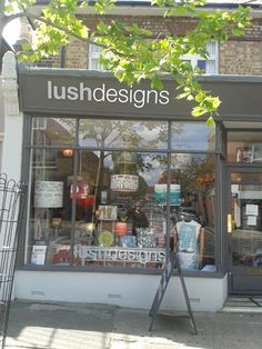 Our lovely leafy shop in East Dulwich, London http://lushlampshades.co.uk/index.php?category=10&sec=40