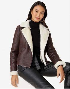 Moda Fashion, Moda Online, Ideias Fashion, Bomber Jacket, Leather Jacket, Blazer, Jackets, Women, Products