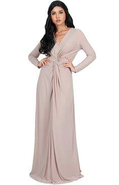 KOH KOH Womens Plus Size Womens Long Sleeve Sleeves V-Neck Flowy Cocktail  Formal Fall 16658b67b3dd
