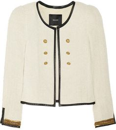 ShopStyle: Isabel Marant Linen-blend bouclé jacket