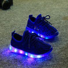 Children Shoes Led YeezyEu 21-36 Kids Light Up Shoes Luminous Glowing Sneakers Toddler Boys Girls Shoes Led Sneakers Fashion#kids light up shoes