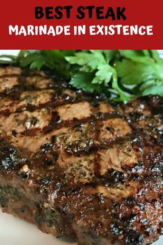 """Best Steak Marinade in Existence Recipe - - """"This is a family recipe that has been developed only over the last 5 years. In this short time it's made me famous in our close circle, but until now I've never shared it with anyone. Peanut Butter Dessert Recipes, Dessert Recipes For Kids, Lemon Dessert Recipes, Dinner Recipes, Grilled Steak Recipes, Grilling Recipes, Beef Recipes, Vegetarian Recipes, Steak Marinade Best"""