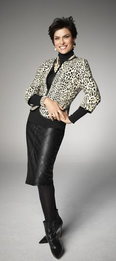 Spotted: the snow leopard cardi with bracelet sleeves.#CHICOSSWEEPS