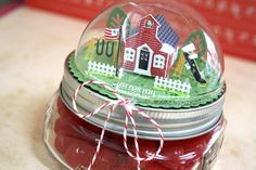 Schoolhouse Treat Jar by Laura Bassen for Papertrey Ink (April 2015)