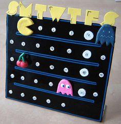DIY Pacman Calendar