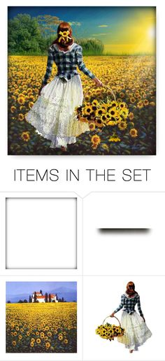 """""""Field of Sunflowers"""" by debraelizabeth ❤ liked on Polyvore featuring art"""