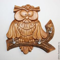 Tree Carving, Pumpkin Carving, Wood Sculpture, Sculptures, Wood Projects, Woodworking Projects, Clay Tiles, Owl Art, Scroll Saw