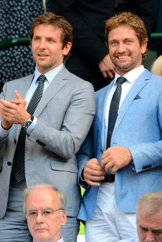 Bradley Cooper And Gerard Butler Cause Twitter Storm With Wimbledon Bromance