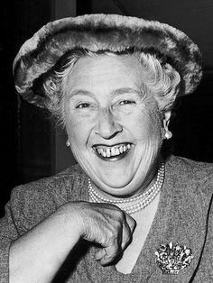 "Agatha Christie. If I were to create a board named ""People Who Need Serious Dental Work,"" this would be the cover photo."