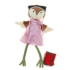 Hazel Village - the lovely Lucy Owl, $68   (she's a Premium doll, Hazel Village also has other animals for $39)