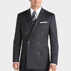 Calvin Klein Black Double-Breasted Suit - Modern Fit | Men's Wearhouse