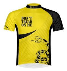 Amazon.com: Primal Wear Don't Tread on Me Gadsden Flag Cycling Jersey Men's Short Sleeve: Sports & Outdoors